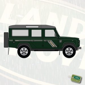 Stickerset Land Rover Defender 110 TDi-TD5 'COUNTY' (grijs)