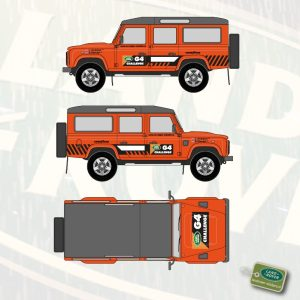 G4 Challenge stickerset Land Rover Defender 110