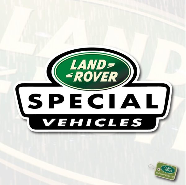 Land Rover Special Vehicles sticker   landrover-stickers.nl