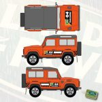 G4 Challenge stickerset Land Rover Defender 90
