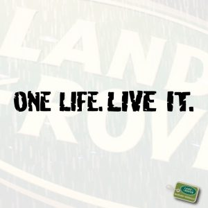 Snijtekst Camel Trophy 'One Life. Live it.'