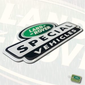 Special Vehicles doming sticker | Landrover-stickers.nl